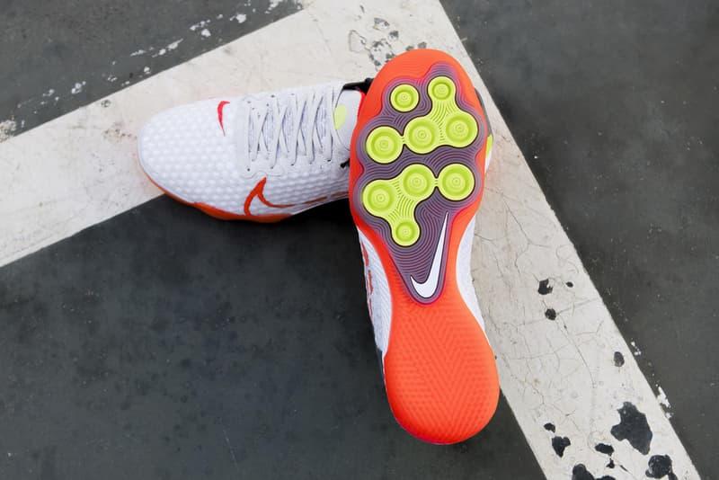 nike react gato futsal white orange yellow release date info photos price