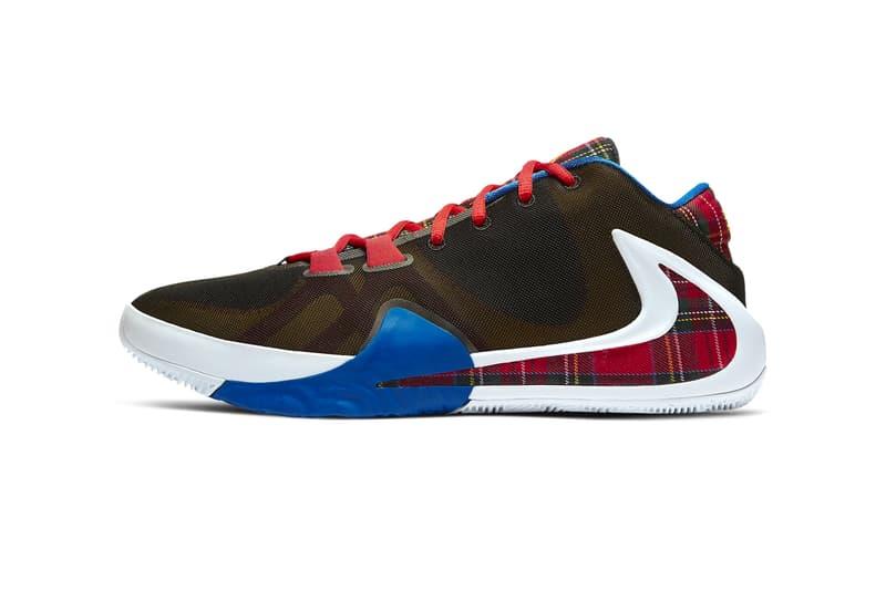 Nike Zoom Freak 1 Employee of the Month eddie murphy coming to america tartan plaid shoes sneakers runners trainers kicks basketball giannis Antetokounmpo Game Royal University Gold CD4962 001