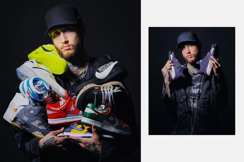 "NTWRK Faze Banks Biggest Sneaker Drawing Ever Travis Scott's Purple Friends & Family AJ4 Tinker Hatfield-designed Oregon PE Air Jordan 3 Air YEEZY 2 ""NRG"" Off-White collaborations Yeezy shoes NTWRK all of March 100,000 sneaker collection"
