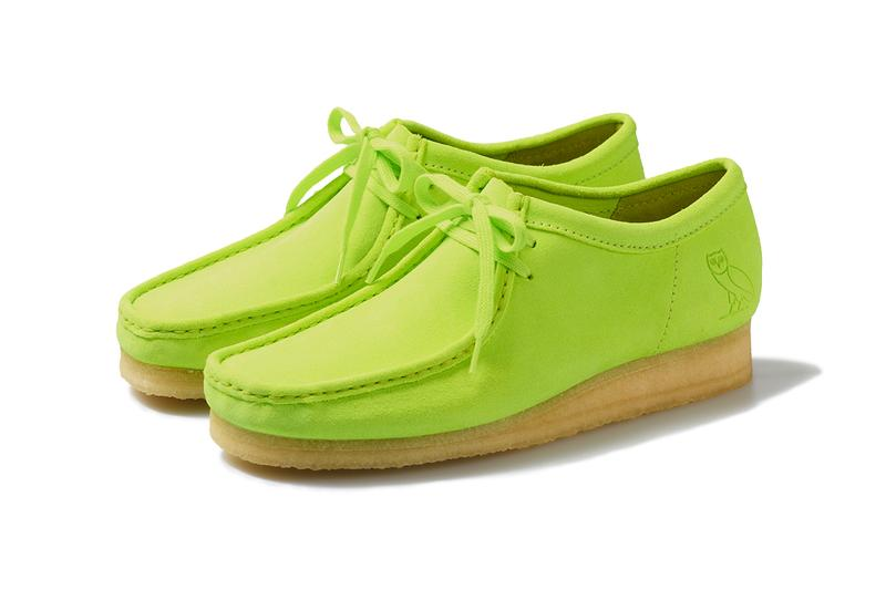 OVO x Clarks Originals 2020 Wallabee Low octobers very own collaboration colorway green october black drake owl logo release date