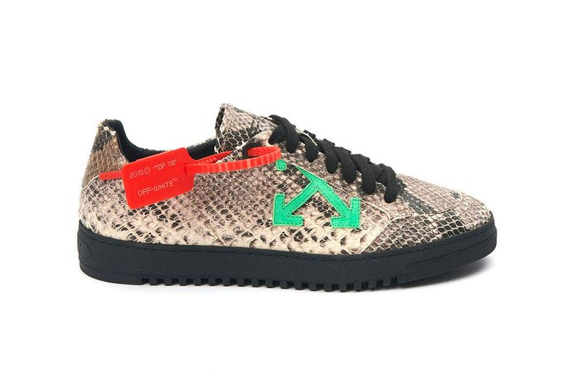 Off-White 2.0 Sneakers Spray Paint Snakeskin Silver