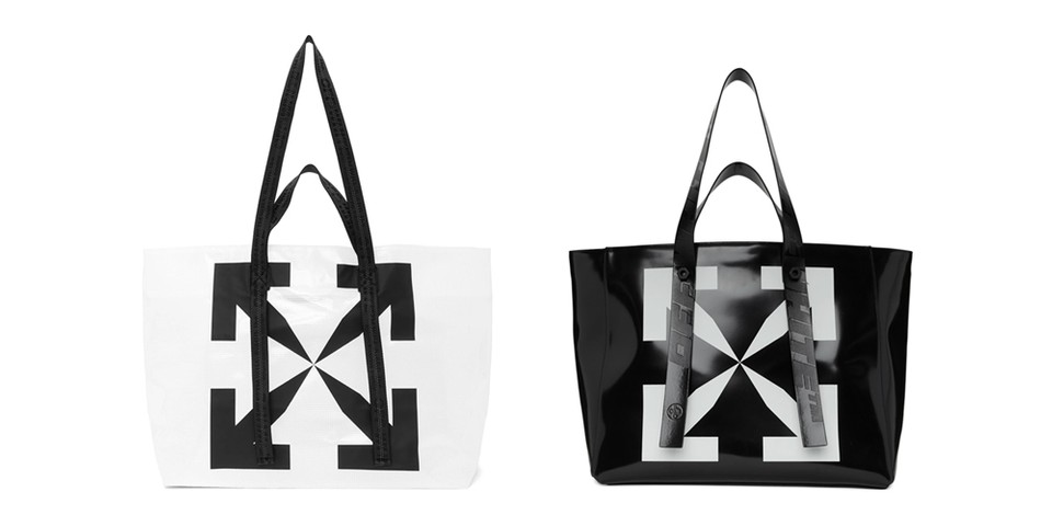 """Off-White™ Drops Three Large """"ARROWS"""" Tote Bags"""