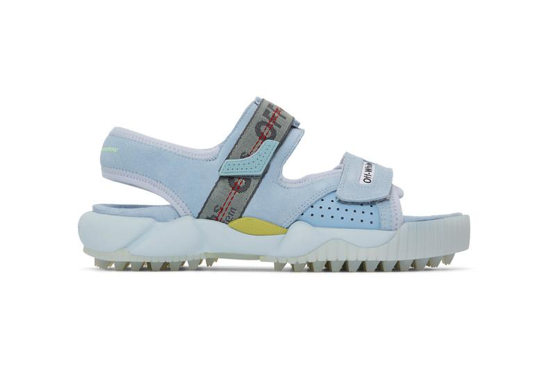 Off-White™ Oddsy Trekking Sandals: Blue, Beige, Black Hiking Trails ssense