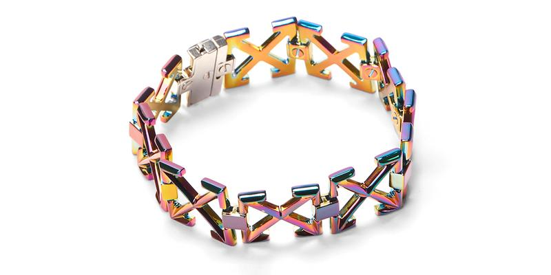 Off White Iridescent Arrows Bracelet Release Info Buy Price Virgil Abloh LN-CC