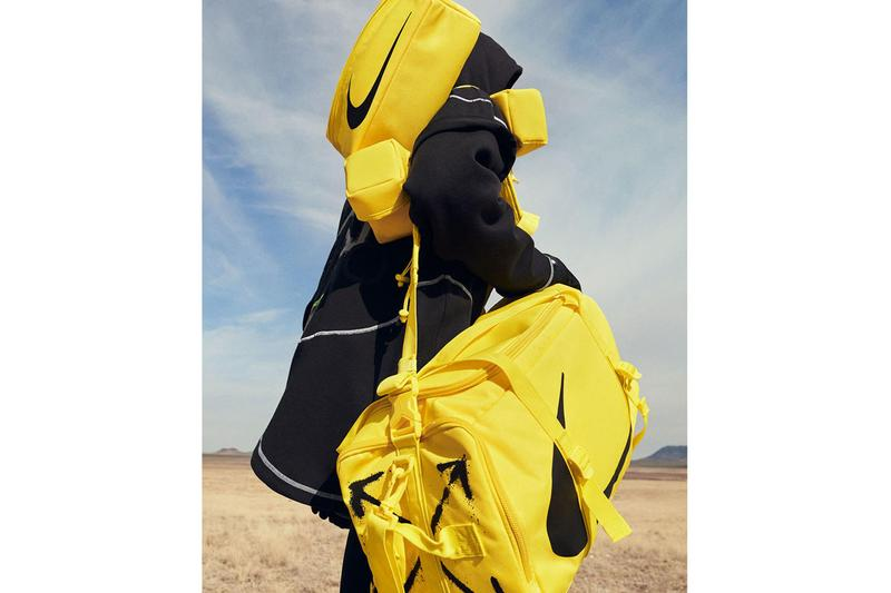 offwhite off white nike pro training collection release virgil abloh yellow black color palette