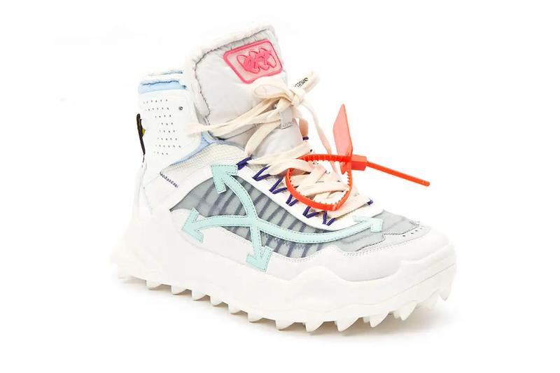 Off-White Odsy High Top Sneaker White Pale Black Green Release virgil abloh the webster