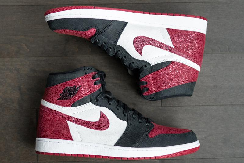 university of oklahoma sooners air jordan 1 pes black white red snakeskin stingray release date info photos price