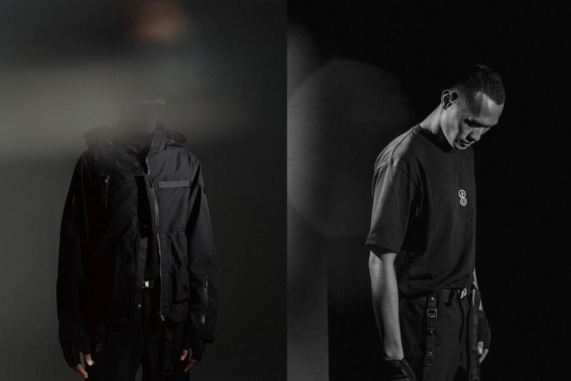 "idle/idō x ORBITGear ""Osmosis"" Collection Waterproof Jacket Bottom Pants 2Way Pack Graphic T-shirt Black Velcro Pockets YKK Zippers lookbook collaboration ss20 spring summer 2020 techwear"