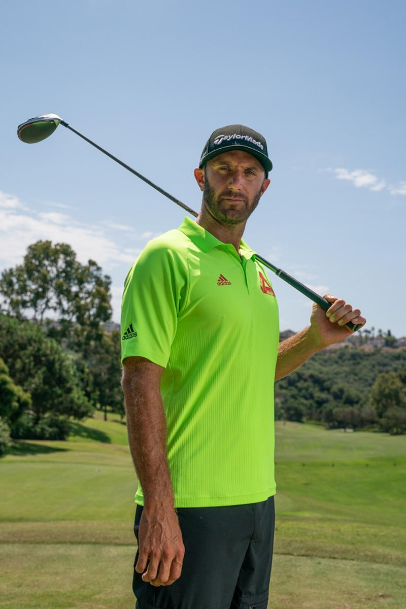 Palace x adidas Golf SS20 Collection Lookbook Dustin Johnson Joaquin Niemann Sergio Garcia Sneaker glove sleeve towel hat pants shirt polo jacket