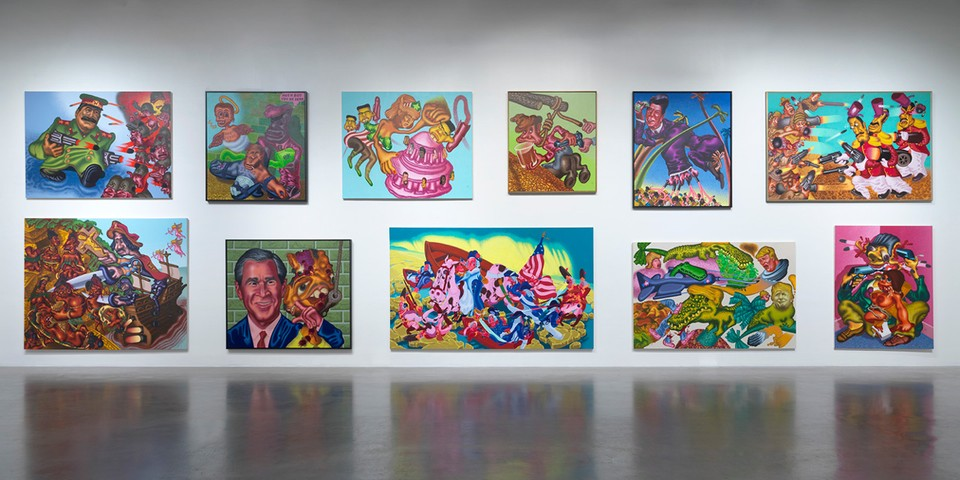 A Look Inside Peter Saul's Major Survey at the New Museum in NYC