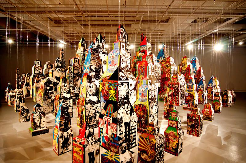 """PHUNK 25th Anniversary Exhibition Singapore National Design Centre """"Control Chaos"""" Paintings Sculptures"""