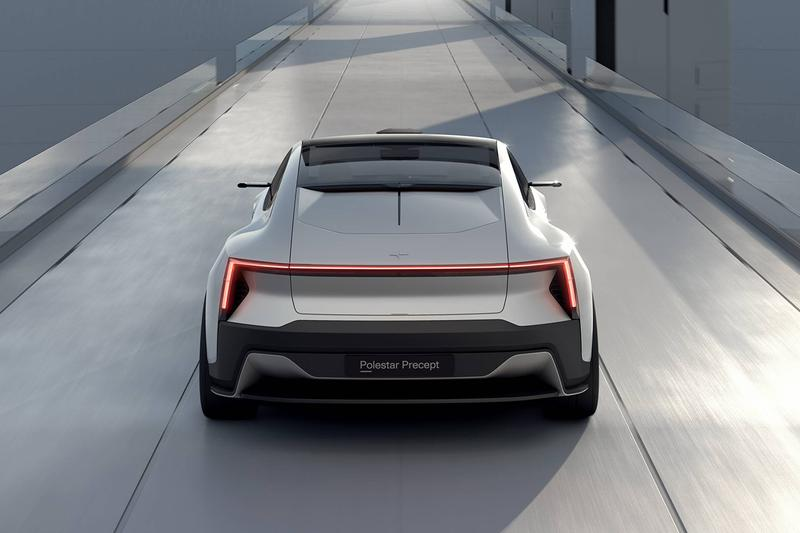 Polestar Precept Fully Electric Four-Door Grand Tourer Sustainable Interior Reclaimed Fishing Nets 3D Printed Knitted recycled PET bottles recycled cork vinyl digital environment future car automotive news updates Volvo Group Swedish Android EV