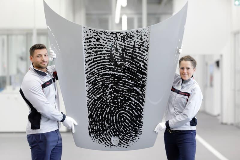 porsche 911 fingerprint exclusive manufaktur customization service printing bonnet hood personalization