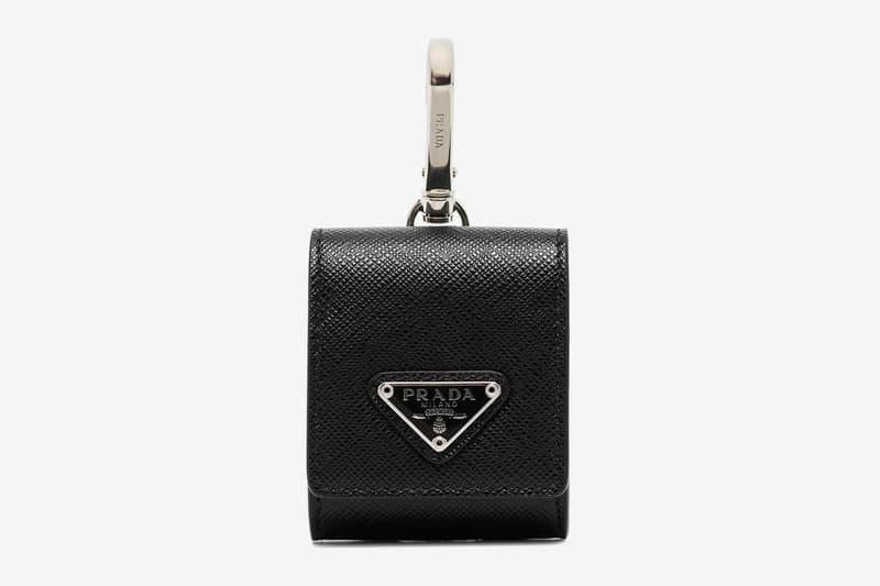 Prada Saffiano Leather Airpods Case Release Info Black Buy Price Logo Plaque