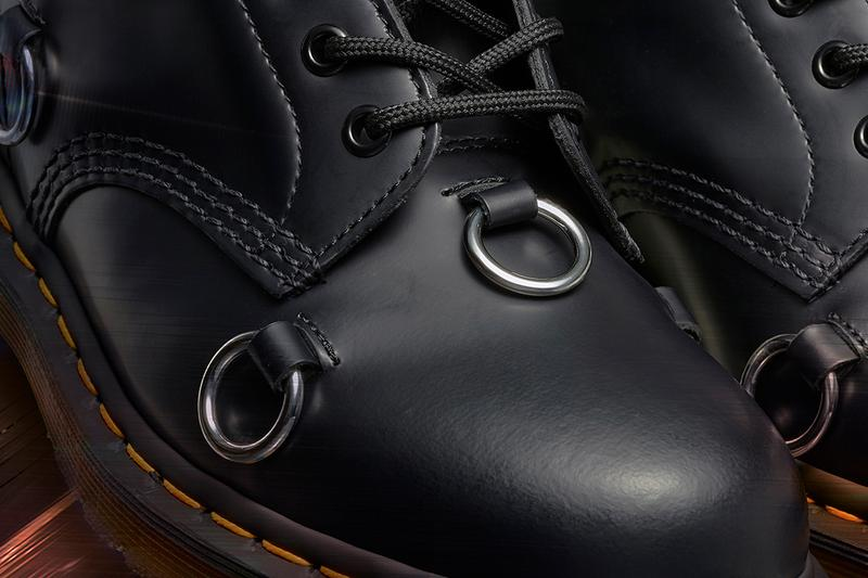 Raf simons dr martens spring summer 2020 release information 1460 remastered boots metal hooks buy cop purchase