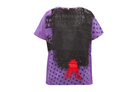 Raf Simons Crafts Unique Hand-Painted Hospital Gown T-Shirt