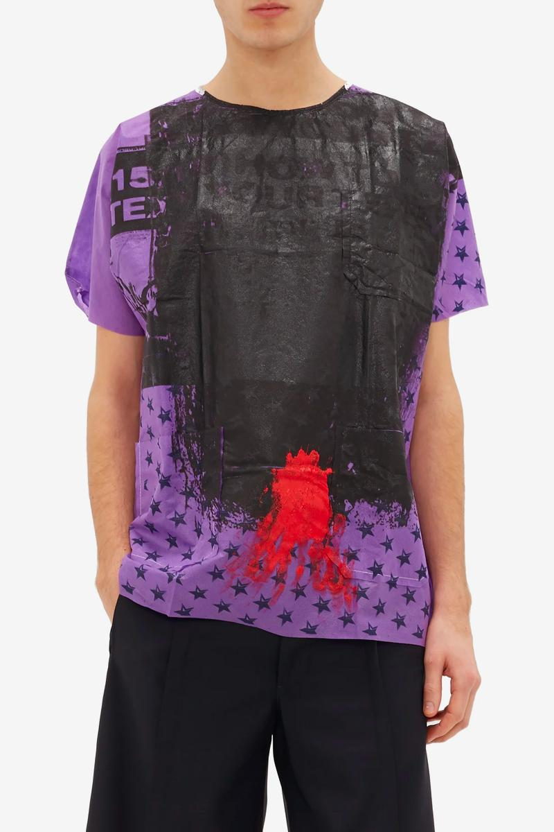 Raf Simons Hand Painted Hospital Gown T-Shirt Release Info Buy Price Info Purple Black Red