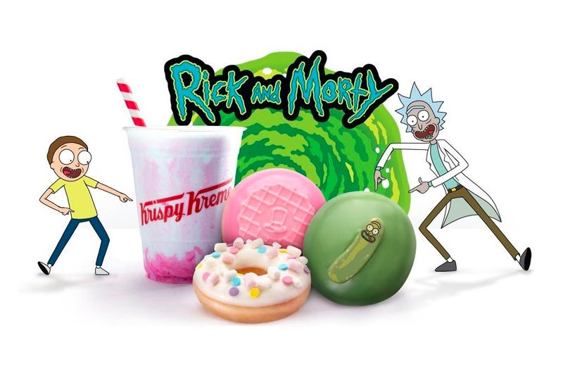 Rick and Morty x Krispy Kreme Pickle Rick Donut tv shoes adult swim cartoons comedy snacks Australia donuts doughnuts