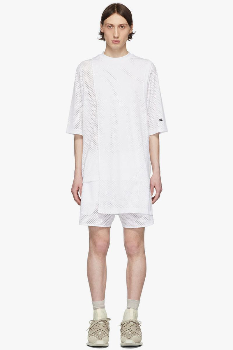 "Rick Owens x Champion Spring/Summer 2020 ""TECUATL"" Collection First Look Release Information Mens Basics Underwear Briefs Tank Top Basketball Mesh Shorts Toga Top Long Sleeve T-Shirt"