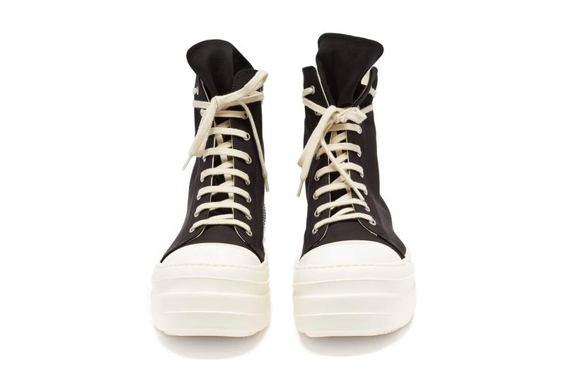 Rick Owens Double Bumper Canvas High Top Ramones sneakers shoes footwear kicks runners trainers designers chunky spring summer 2020 collection menswear streetwear made in italy