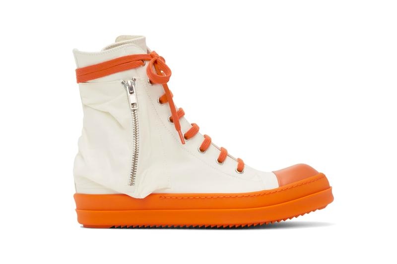 Rick Owens DRKSHDW Bauhaus Sneaker White Orange Release Info Buy Price