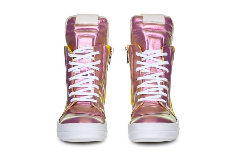 Rick Owens TECUATL Geobasket Irise Colorway sneaker shoes high-top spring/summer 2020