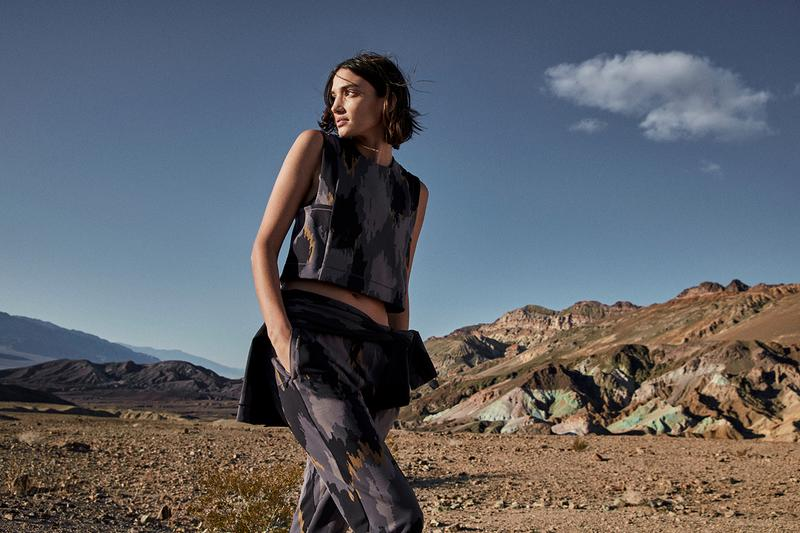 "Robert Geller x lululemon ""A Moment to Reflect"" Collection lookbooks yoga camo outerwear jackets activewear"