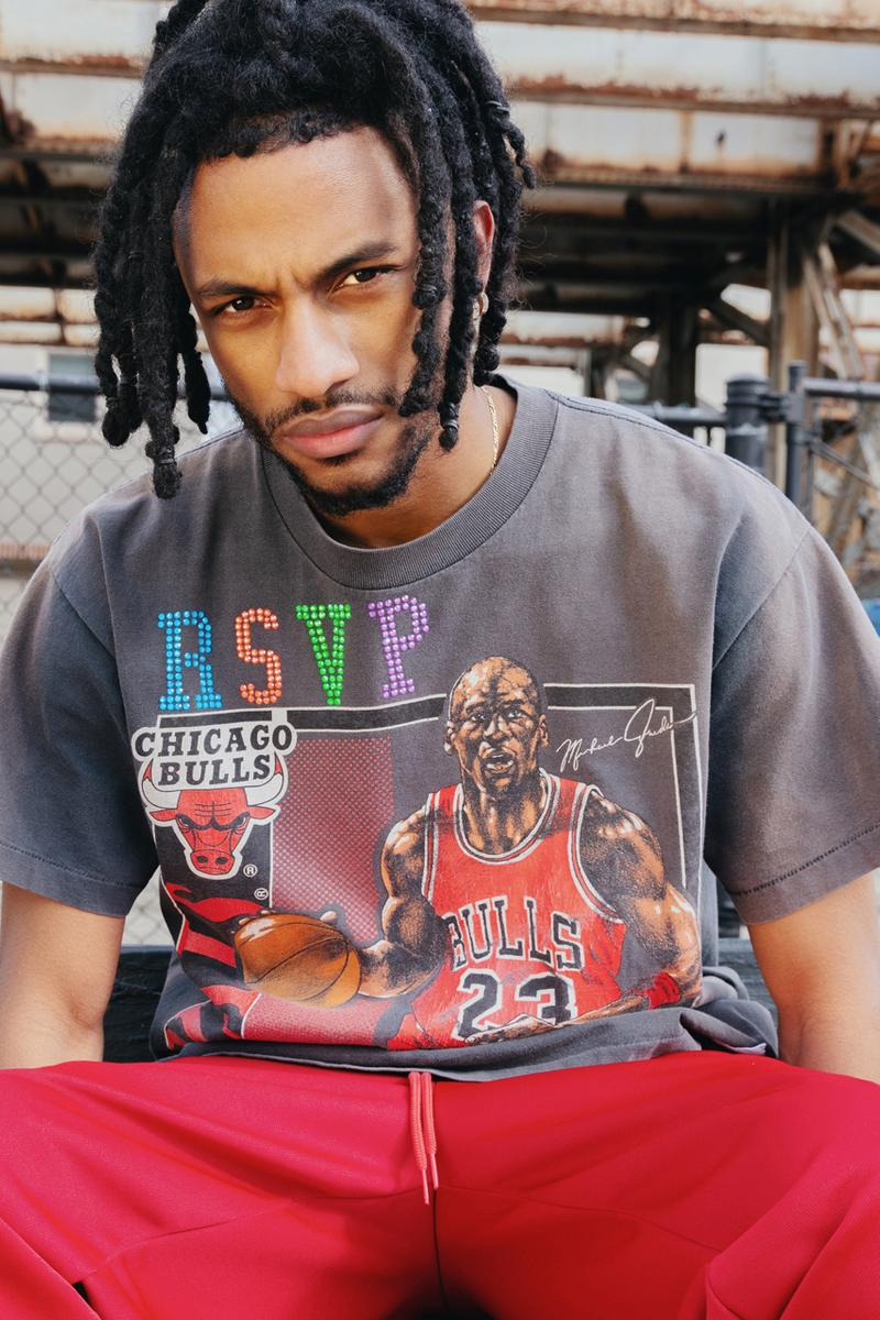 Ales Grey x RSVP Gallery Swarovski-Customized T-shirts tees vintage michael jordan chicago all star weekend bulls game 2020 february 14 valentines day