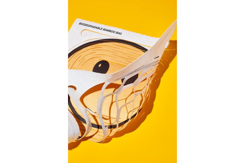 Sho Shibuya Placeholder Biodegradable Bamboo Bag Smiley Face Sustainable Renewable Bamboo Fiber