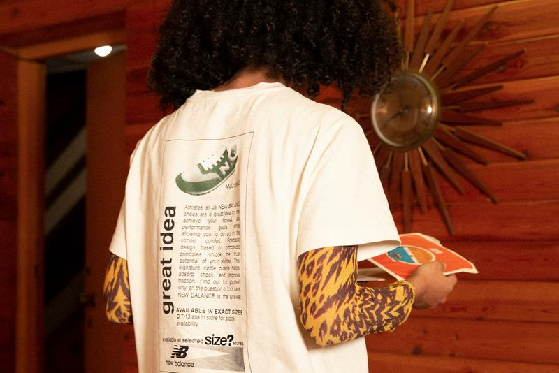 size 20th anniversary new balance comp 100 apparel T-shirt hoodie green brown buy cop purchase release information