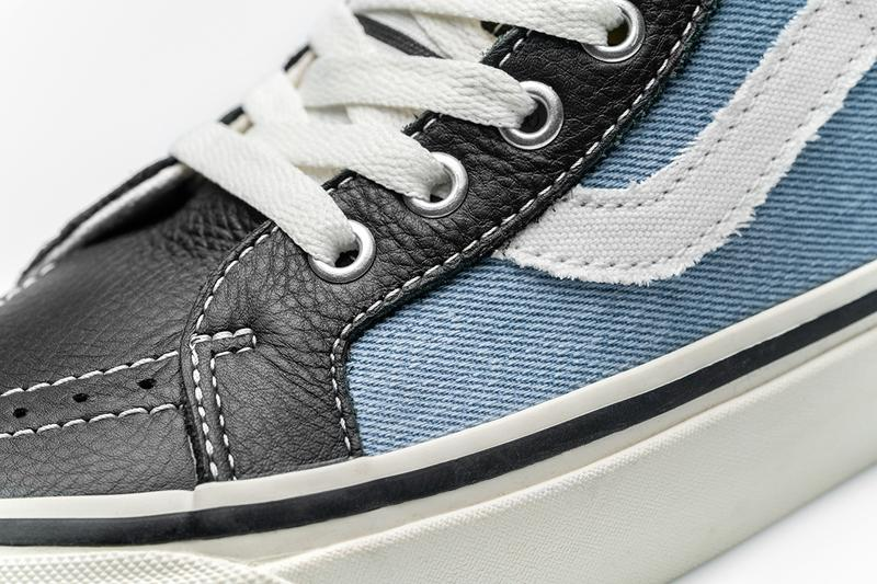 vans size history of punk release information buy cop purchase leather denim stripe distressing 20th anniversary