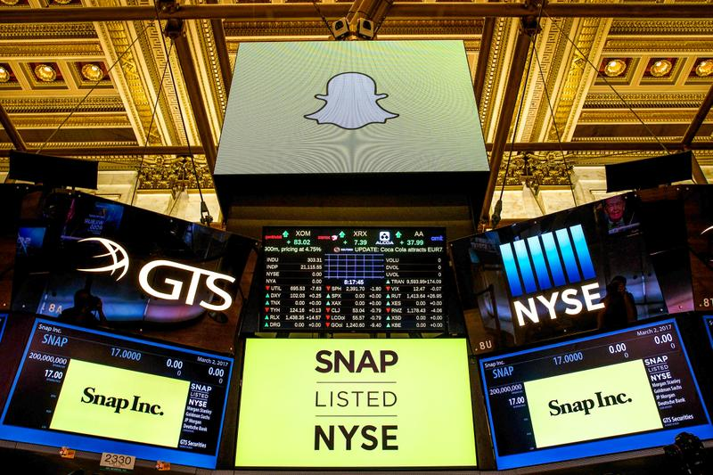 snapchat snap inc stock price trading market exchange finance investment evan spiegel