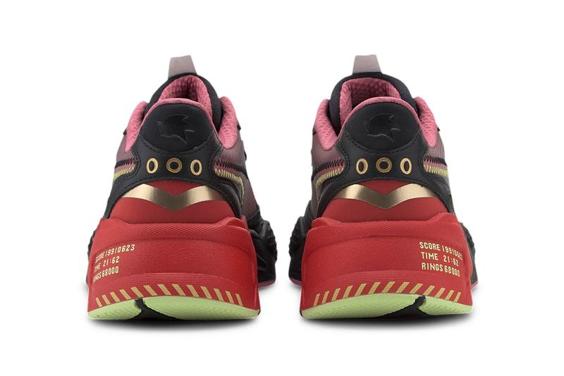 Sonic x PUMA RS-X³ Doctor Eggman Inspired Sneaker Release Information Closer Look Drop Date Footwear Sonic The Hedgehog High Risk Red Black Fade Gold Rings Gaming '90s Y2k Collaboration