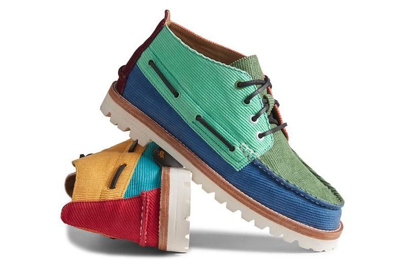 sperry cloud corduroy chukka vibram blue green orange red release date info photos price brendon babenzien
