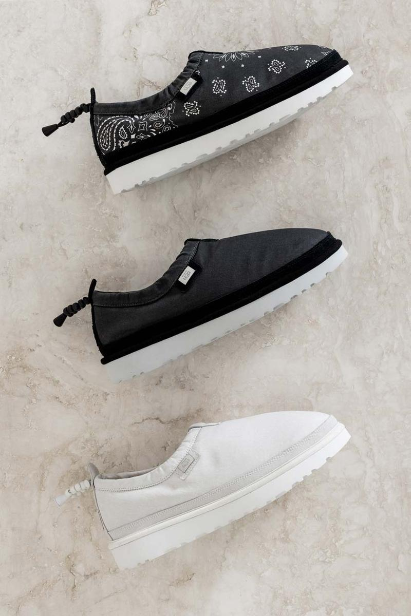 stampd ugg chris stamp tasman slipper slippers shoe collaboration release date ss20 spring summer 2020 black bandana vaporous gray grey