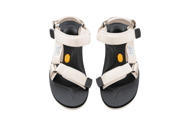 "A.P.C. x Suicoke Spring/Summer 2020 Footwear Collection Depa-V2 Sandals White Beige Olive ""Walk On Free"" Tag Jean Touitou"