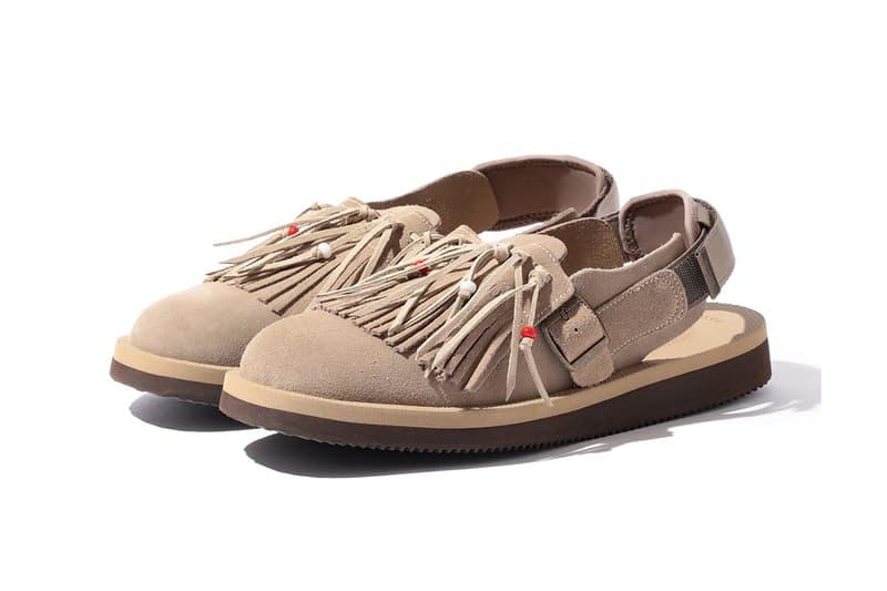 SUICOKE BEAMS bespoke fringe sandal black tan sand release date info photos price