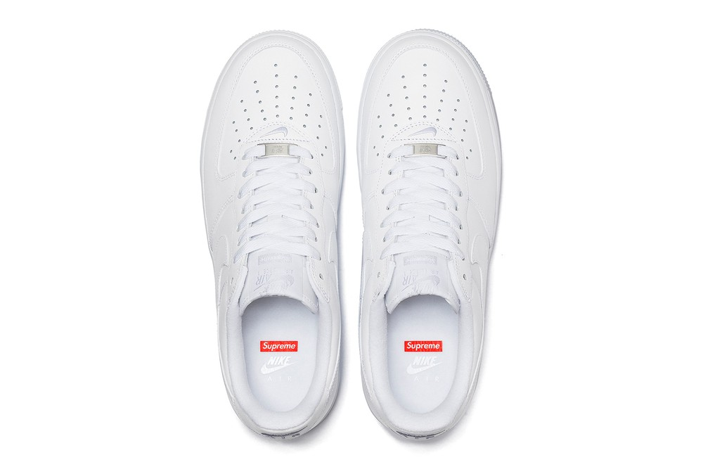 Supreme Nike Air Force 1 Low Official Look Release Info Date Buy Price Spring Summer 2020 Black White CU9225-100 CU9225-001