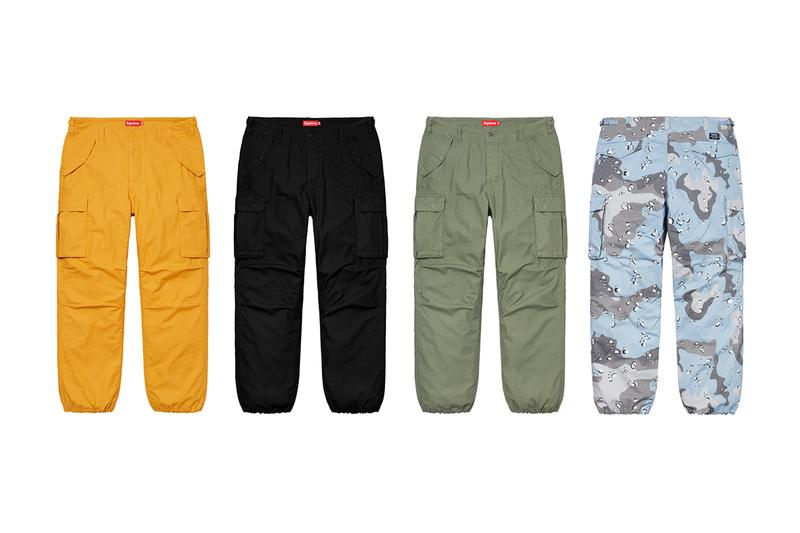 Supreme Spring Summer 2020 Bottoms pants shorts collection streetwear skatewear new york city menswear gore tec Keegan Dakkar L japanese koi fish tattoo sweatpants trousers chinos slacks shorts