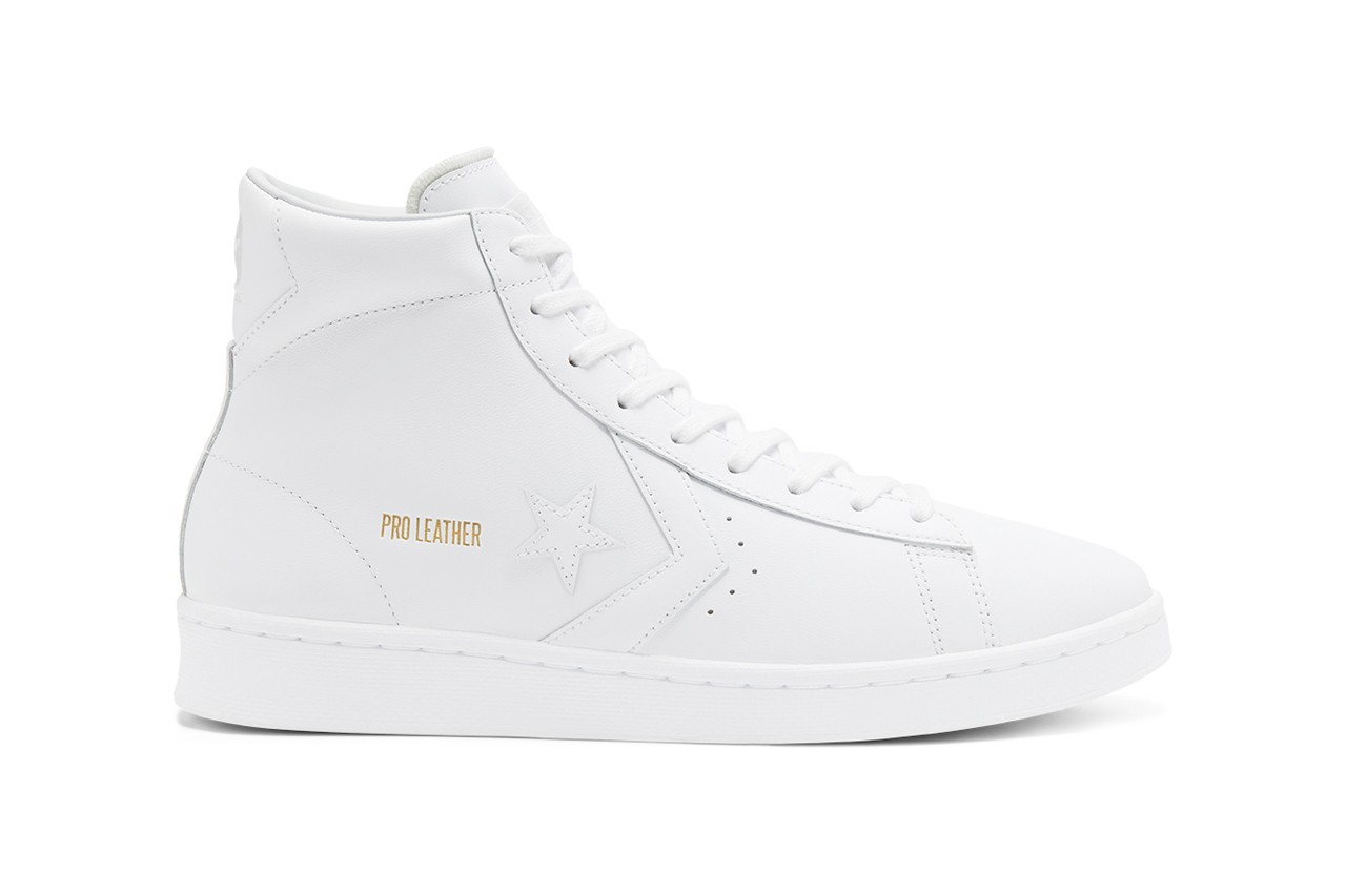 10 Knockout Boxing-Inspired Pieces to Cop for SS20 Converse Pro Leather OG Mid Daniel W. Fletcher Spring Summer 2020 Runway Pieces Looks Outfits Style Fashion Advice Trend Reports Rick Owens Champion Versace Robe Connor McGregor AMBUSH Balenciaga Saint Laurent Moschino Martine Rose Luke Jefferson Day