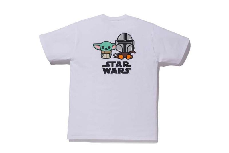 The Mandalorian BAPE Capsule Collection Release Info Buy T shirt Black White Baby Yoda Milo Lucasfilm