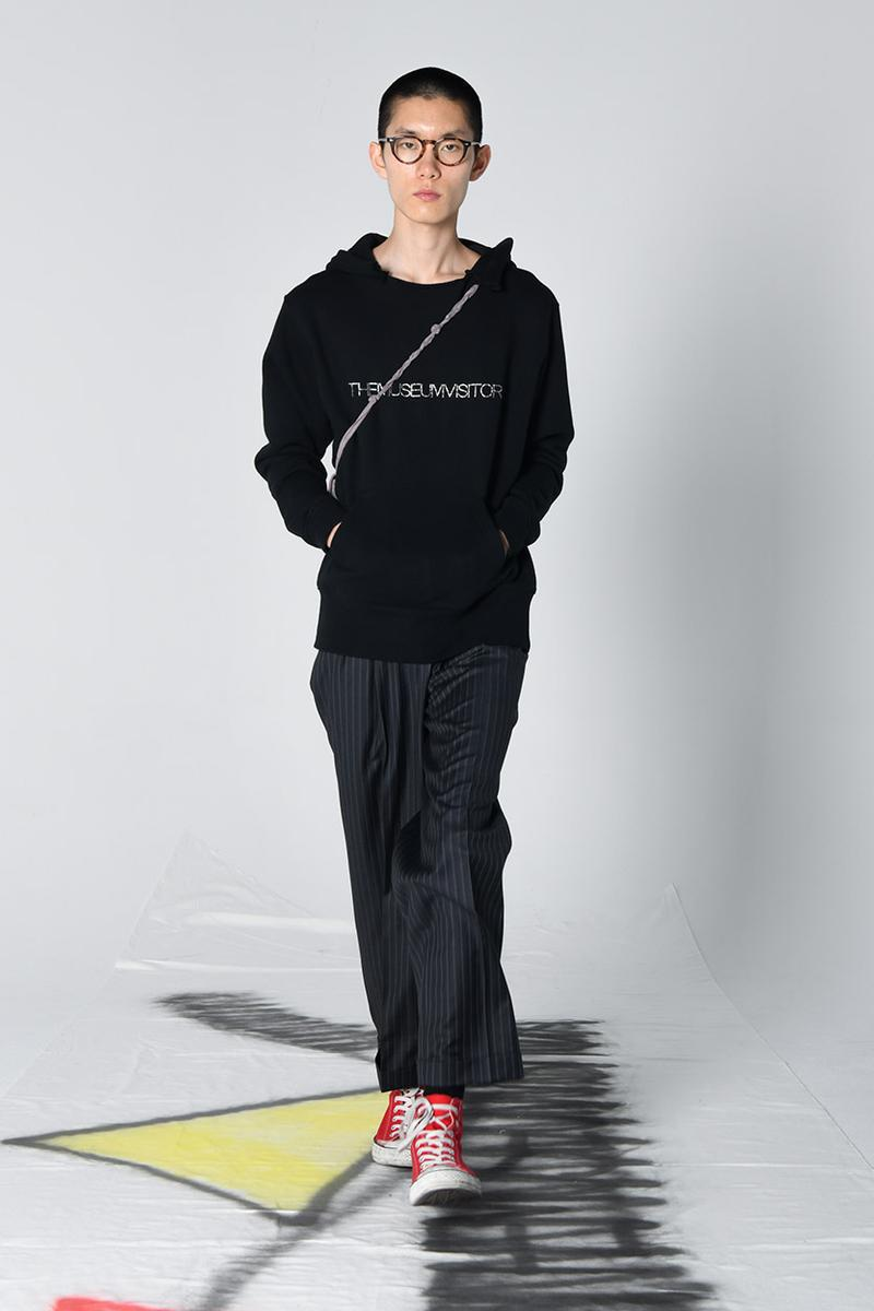 The Museum Visitor Spring/Summer 2020 Capsule Collection Shirts Jackets Fishtail Parkas Military Rose Jacket Pinstripe Trousers Rhinestone T-shirts Hoodies Cotton Silk Bandanas