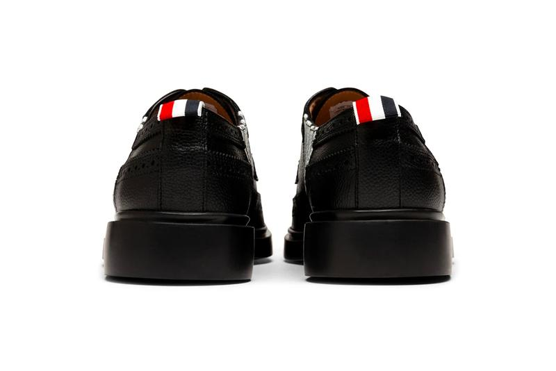 Thom Browne Four-Bar Applique Longwing Brogue Info New York Dress shoes leather leather pebbled