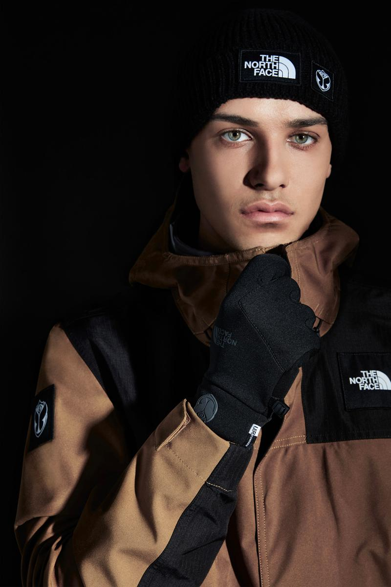 Tomorrowland Festival x The North Face Exclusives collaboration collection etip gloves Saikuru drt jacket beanie hat web store february 28 2020 release date limited
