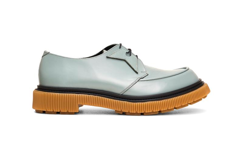 Tres Bien Adieu Type 141 Leather Derby Bottle Green blue gray black gum sole treaded creeper croc polished sneakers shoes footwear classic sartorial bespoke dress trainers loafers