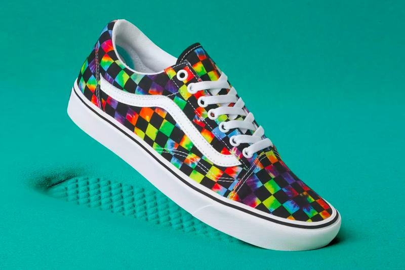 Vans ComfyCush Era Old Skool Tie Dye Checker Release Info black white