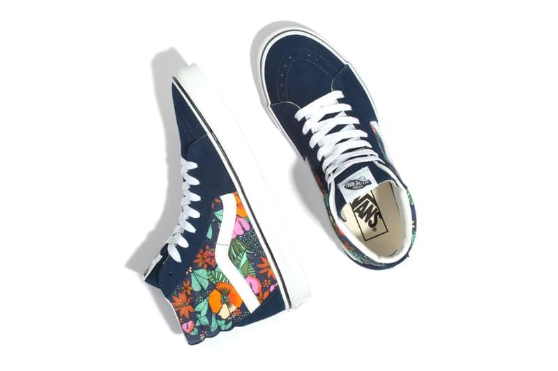 vans floral multi tropic slip on sk8 hi authentic old skool sneakers summer spring graphic print