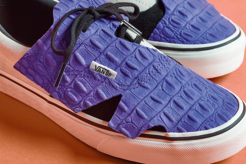 vans era slip on origami pack checkerboard black white purple pink croc leather release date info photos price