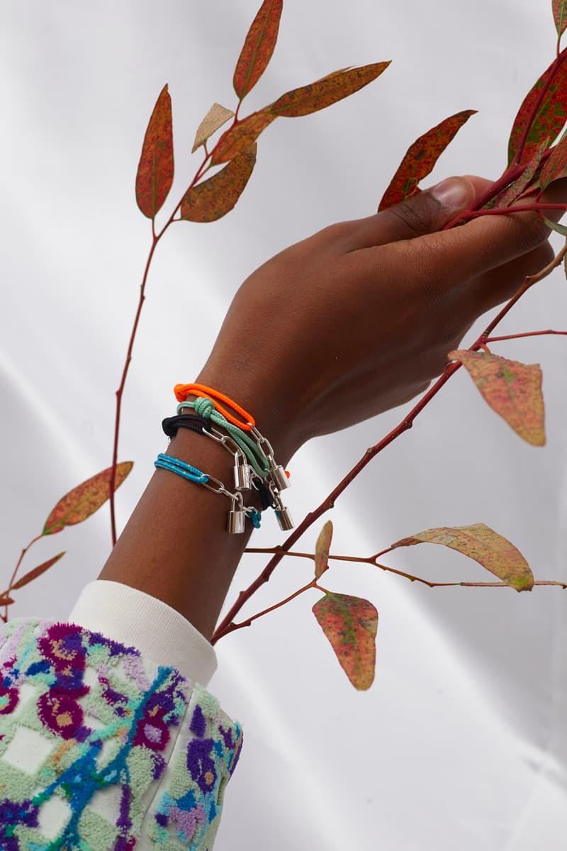Virgil Abloh Designed UNICEF Louis Vuitton Silver Lockit Bracelet Release info date Buy Price Teal Blue Black Orange