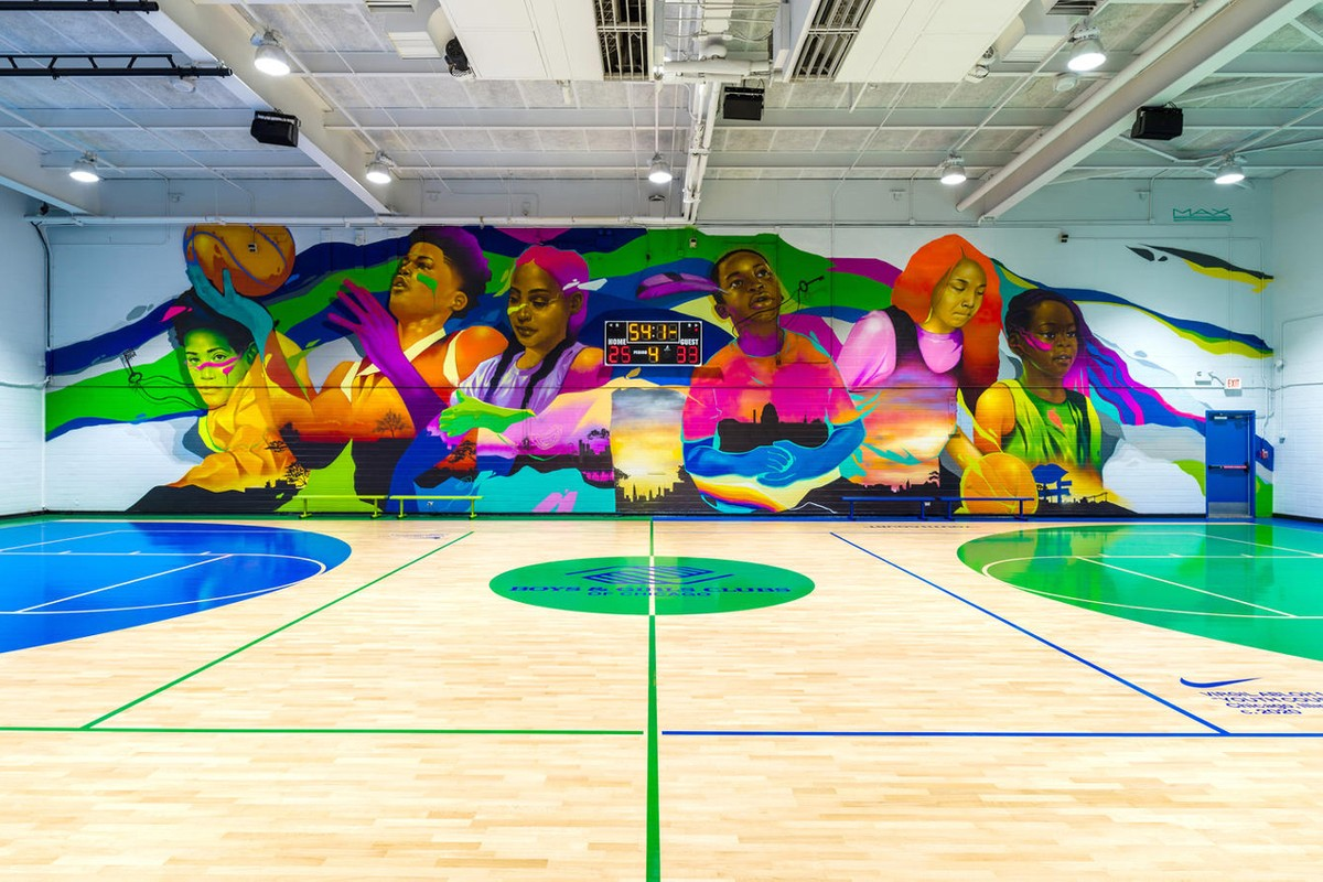 Virgil Abloh and Nike Redesign the Boys and Girls Club of Chicago's Basketball Facility